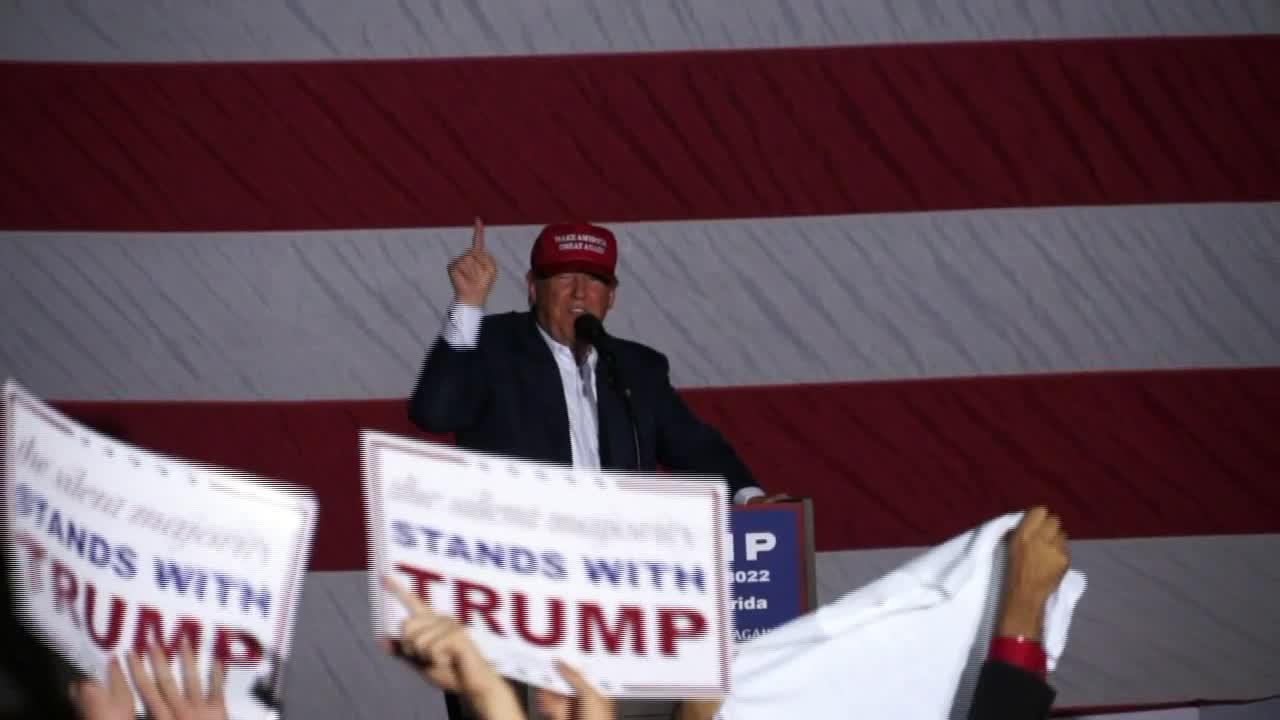"Donald Trump Loves Woman Holding ""Hispanics For Trump"" Sign"