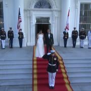 President Obama Greets Singapore Prime Minister In Royal Fashion