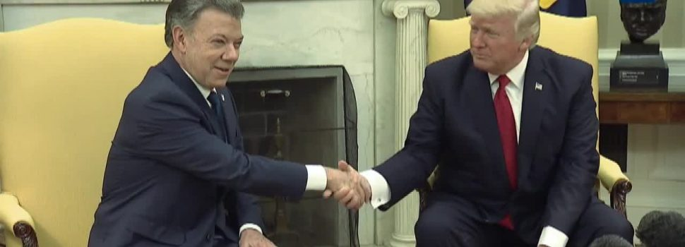 President Trump Meets with President Santos of Columbia