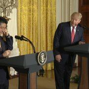 President Trump Addresses Japanese Prime Minister Abe