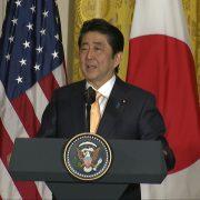 Japanese Prime Minister Shinzo Abe Speaks To President Trump