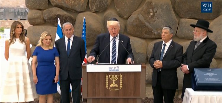 President Trump Pays His Respects At The Yad Vashem Holocaust Memorial