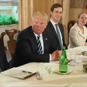 President Trump And Prime Minister Paolo Gentiloni of Italy Talk About The Pope