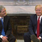 President Trump Greets Italian Prime Minister Gentiloni