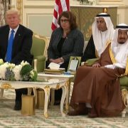 President Trump And Signing Ceremony With King Salman In Saudi Arabia
