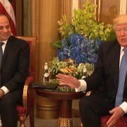 President Trump Meets With Egypt President Abdel Fattah el-Sisi In Saudi Arabia