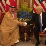 President Trump Greets King Hamad bin Isa Al Khalifa of Bahrain