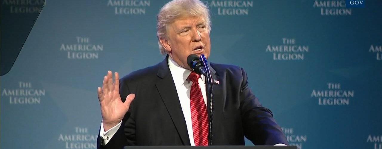 President Trump Honors Veterans of 'The American Legion'