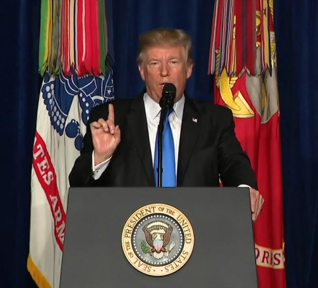 "President Trump: ""We Are Not Nation Building, We Are Killing Terrorists"""